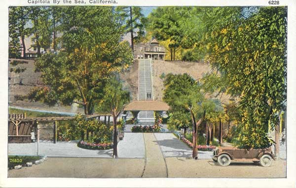 Capitola Beach Cottage Then And Now Images From Old Postcards